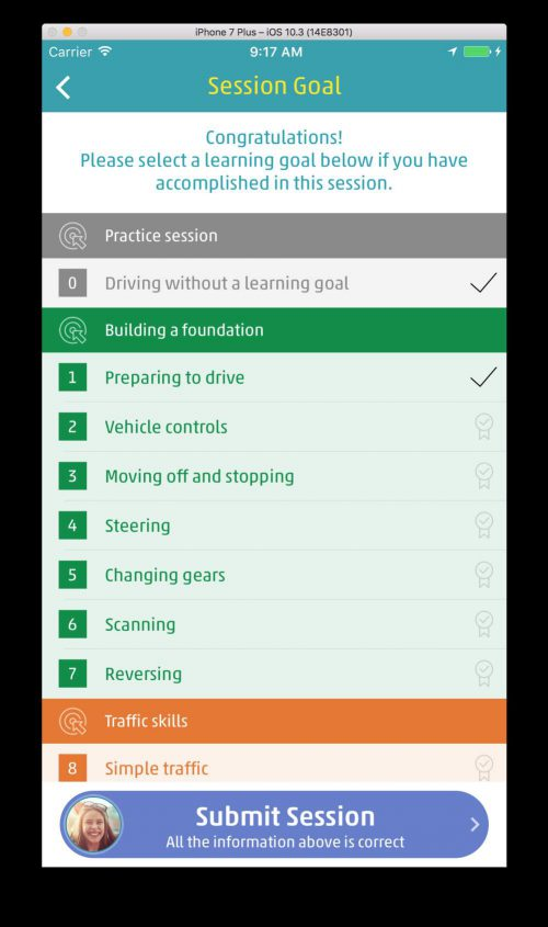 Choose your learning goals